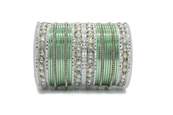 Green Zircon Bangles And Bracelets