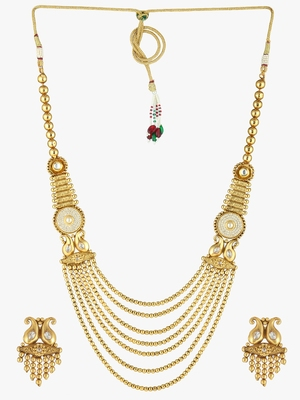 GOLD PLATED COPPER ANTIQUE CHAIN SET