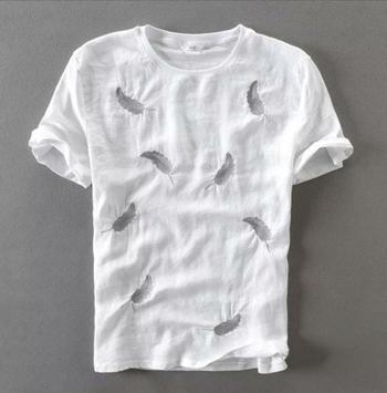 White plain cotton men-tshirts