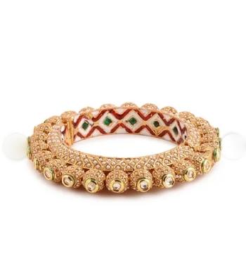 Gold Kundan Bangles And Bracelets