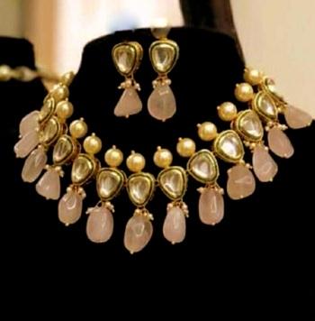 Pink Kundan Necklace Sets