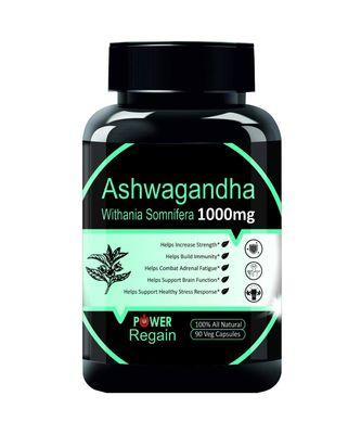 Power Regain- 100% Natural Ashwagandha Root Extract 1000 mg - 90 veg Capsules