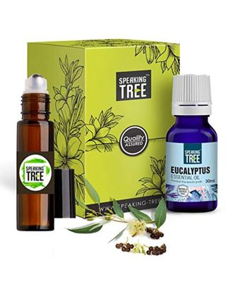 Speaking Tree - Eucalyptus Essential Oil (30ml) with Roller - 100% Pure, Natural and Undiluted