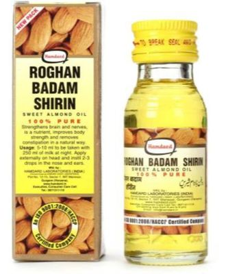 Hamdard Roghan Badam Shirin 100% Pure Almond 100 ML Hair Oil  (100 ml)