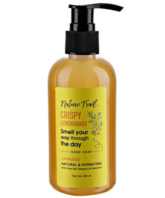 Nature Trail Crispy Lemongrass All Natural, Olive Oil Based, Prebiotic, No Sulphate & Paraben Handwash-200ML