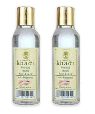 Khadi Anti-Bacterial hand Sanitizers 100 ml Pack of 2