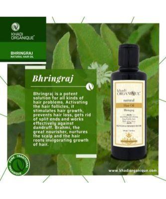 KHADI ORGANIQUE Bhringraj Hair Oil  (420 ml)