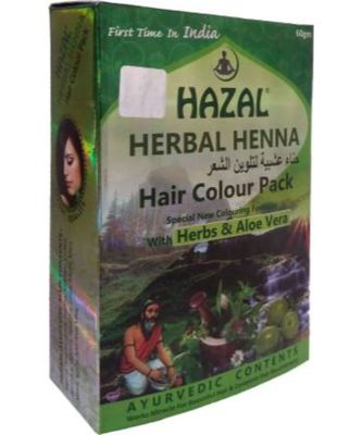 Hazal Herbal Henna Natural Brown (Hair Color Pack) with Herbs & Aloe Vera (Pack of 3)  (180 g)