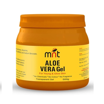 MNT ALOE VERA Gel For Young & Glow Skin 500 Gm (No Chemicals, No Colour, No Fragrance)