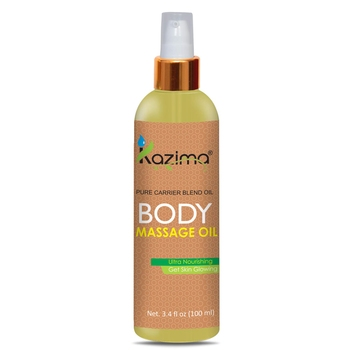 KAZIMA Body Massage Oil (100ML) With 100% Pure Carrier Oil Blend Idea For Ultra Nourishing & Get Skin Glowing