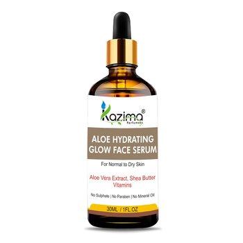 KAZIMA  Aloe Hydrating Glow Face Serum (30ML) with Aloe Vera Extract, Shea Butter, Witch Hazel