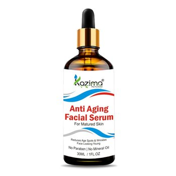KAZIMA Anti Aging Facial Serum (30ML) with Argan Oil, Rosehip Oil, Pomegranate Oil & Cucumber Oil For Face
