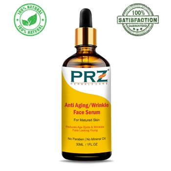 PRZ Anti Aging Wrinkle Face Serum (30ML) For Matured Skin, Reduces Age Spots & Wrinkles Face Looking Young