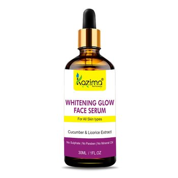 KAZIMA  Whitening Glow Face Serum (30ML) with Cucumber, Pomegranate, Rosehip Oil & Licorice Extract for Face