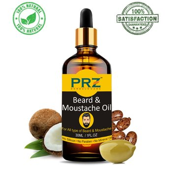 PRZ Premium Quality Beard & Moustache Oil For Men (30ml) - Ideal For Thick Soft And Healthy Hair growth