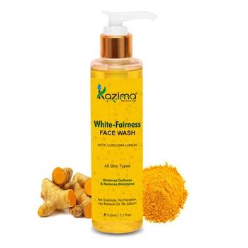 KAZIMA White Fairness Face Wash (210ML) - For Removes Dullness & Reduces Blemishes