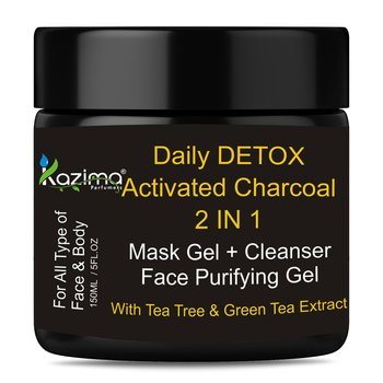 KAZIMA Daily DETOX Activated Charcoal 2 IN 1 Mask Gel (150ml)