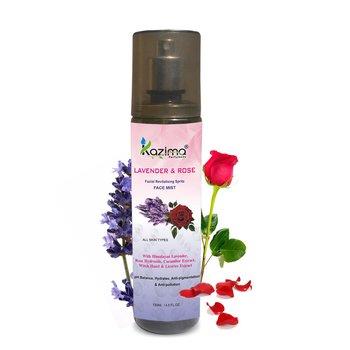 KAZIMA Lavender & Rose Revitalising Facial Spritz & Face Mist (135 ML) For Fresh, Glowy Skin All Day long
