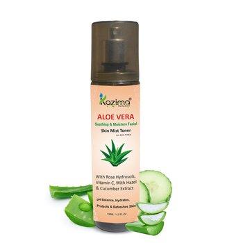 KAZIMA ALOE VERA Soothing & Moisture Facial Skin Mist Toner (135 ML) For Fresh, Glowy Skin All Day long
