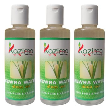 KAZIMA Kewra Water (3 Pcs of 100ML) - Pure Natural & Undiluted