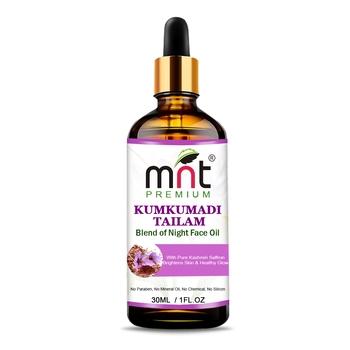 MNT Kumkumadi Tailam With Pure Kashmiri Saffron (30ml) For Brightens, Healthy & Glowing Skin