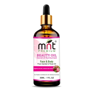MNT Beauty Oil Kumkumadi with Pure Sandal & Rose Oil (30ml) For Brightens dull skin & Reduce dark Spots