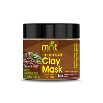 MNT Chocolate Clay Mask with Coffee Oil & Vitamin C for All Skin Types Polishes  Gently Cleanses