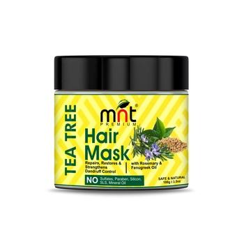 MNT Tea Tree Hair Mask with Rosemary & Fenugreek Oil for Hair Repair, Restore & Strengthens Dandruff Control