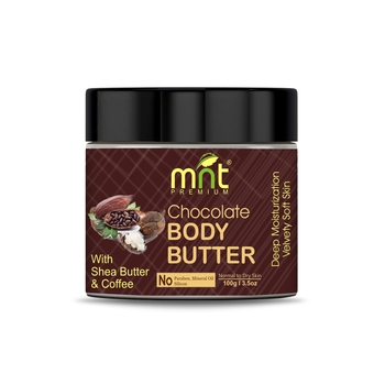 MNT Chocolate Body Butter with Shea Butter & Coffee (100g) for Dry Skin, Skretch Marks, Itchy Skin| No Paraben