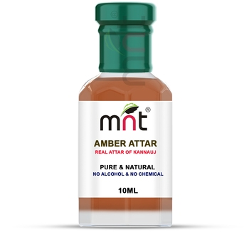 MNT Amber Attar For Unisex, Long Lasting & Alcohol Free (10ml) - Pure Natural & Premium Quality Roll-on Attar