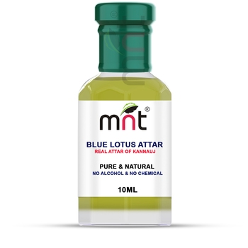 MNT Blue Lotus Attar For Unisex, Long Lasting & Alcohol Free (10ml) - Pure Natural & Premium Quality Roll-on Attar