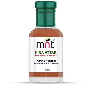 MNT Hina Attar For Unisex, Long Lasting & Alcohol Free (10ml) - Pure Natural & Premium Quality Roll-on Attar