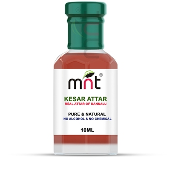 MNT Kesar Attar For Unisex, Long Lasting & Alcohol Free (10ml) - Pure Natural & Premium Quality Roll-on Attar