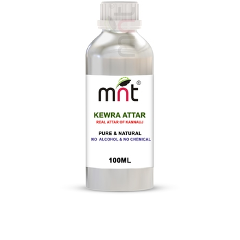 MNT Kewra Attar For Unisex, Long Lasting & Alcohol Free (100ml) - Pure Natural & Premium Quality Roll-on Attar