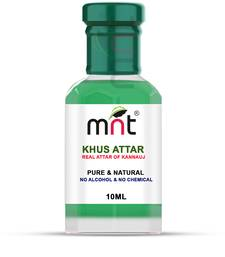 MNT Khus Attar For Unisex, Long Lasting & Alcohol Free (10ml) - Pure Natural & Premium Quality Roll-on Attar