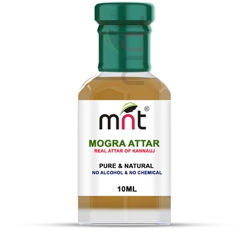 MNT Mogra Attar For Unisex, Long Lasting & Alcohol Free (10ml) - Pure Natural & Premium Quality Roll-on Attar