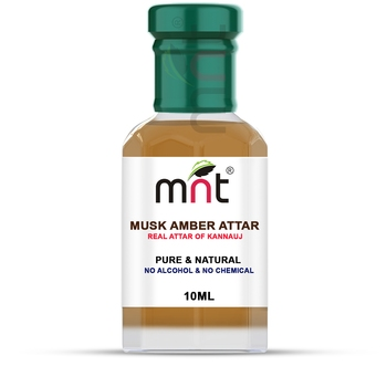 MNT Musk Amber Attar For Unisex, Long Lasting & Alcohol Free (10ml) - Pure Natural & Premium Quality Roll-on Attar