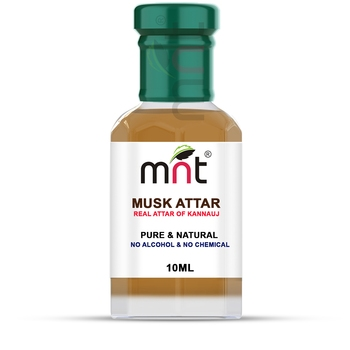 MNT Musk Attar For Unisex, Long Lasting & Alcohol Free (10ml) - Pure Natural & Premium Quality Roll-on Attar