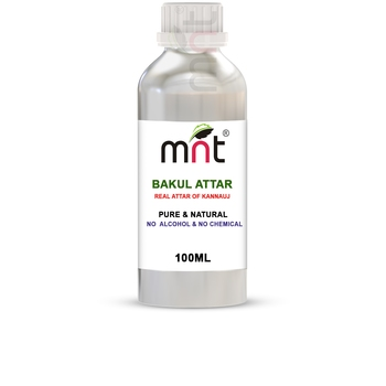MNT Bakul Attar For Unisex, Long Lasting & Alcohol Free (100ml) - Pure Natural & Premium Quality Roll-on Attar