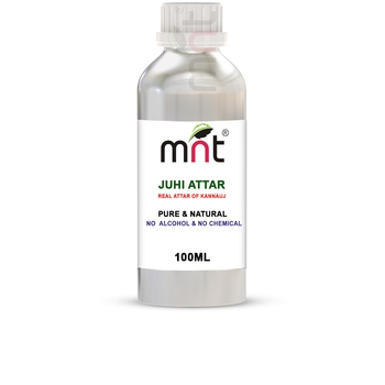 MNT Juhi Attar For Unisex, Long Lasting & Alcohol Free (100ml) - Pure Natural & Premium Quality Roll-on Attar