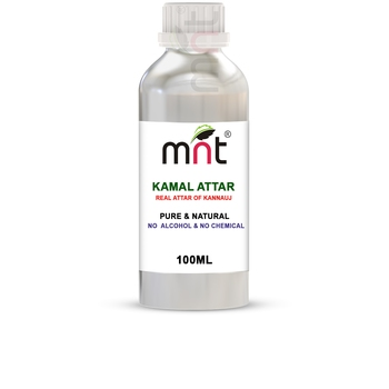MNT Kamal Attar For Unisex, Long Lasting & Alcohol Free (100ml) - Pure Natural & Premium Quality Roll-on Attar