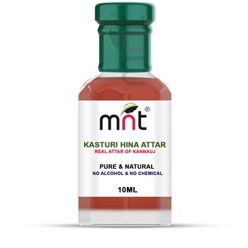 MNT Kasturi Hina Attar  For Unisex, Long Lasting & Alcohol Free (10ml) - Pure Natural & Premium Quality Roll-on Attar