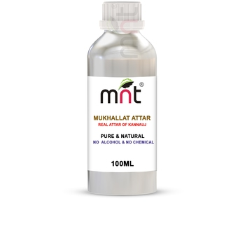 MNT Mukhallat Attar For Unisex, Long Lasting & Alcohol Free (100ml) - Pure Natural & Premium Quality Roll-on Attar