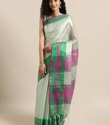 Grey woven tissue saree with blouse