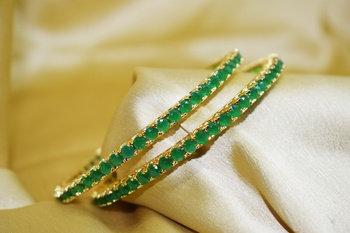 18k Gold Plated American Diamond Bangles