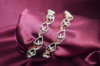 18k Gold Plated American Diamond Bangles