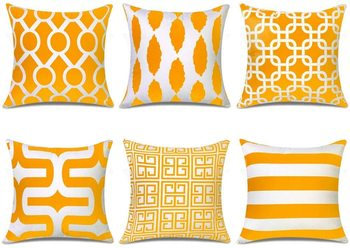 Indian Craft a line Digtal Print Cushion Cover, 16x16 inch - Pack of 6
