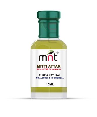 MNT Mitti Attar For Unisex, Long Lasting & Alcohol Free (10ml) - Pure Natural & Premium Quality Roll-on Attar