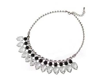 Crystals elegant necklace (black )