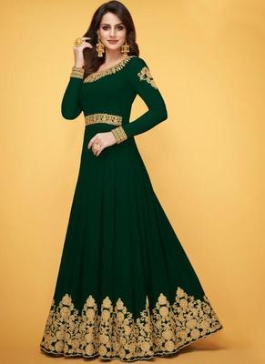 Dark Green Georgette Anarkali Salwar Kameez